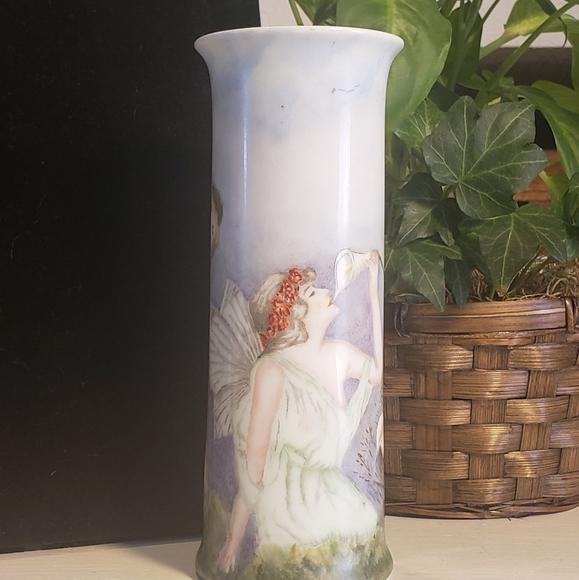 Vintage Other - Vintage O &E.G Austria Fairy Vase artist signed